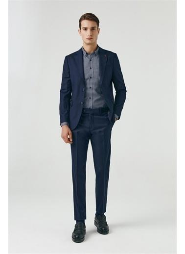 D'S Damat Slim Fit Düz Takım Elbise Lacivert